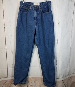 Rare Vintage L.L. Bean Flannel Lined Mom Jeans 6 8